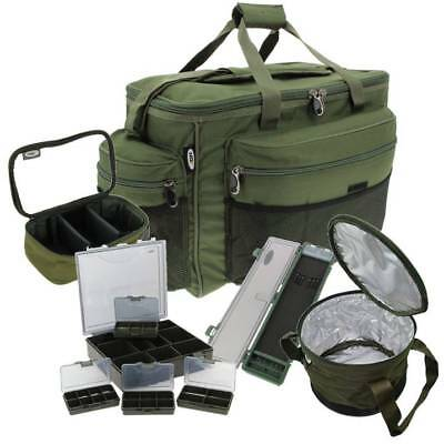 Carp Fishing Luggage Set - Large Carryall Rig Wallet Lead Bag Tackle Box Ngt