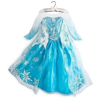 ROBE DE PRINCESSE REINE DES NEIGES ELSA 3 à10 Ans Déguisement Frozen dress fancy