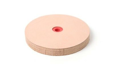 """6"""" Leather Stropping Wheel Buffing Compound Included Pro Sharpening Supplies New"""