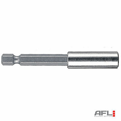 """Wera 134398 Stainless Steel Universal Magnetic Bit Holder Extra Long 1/4""""x152mm"""