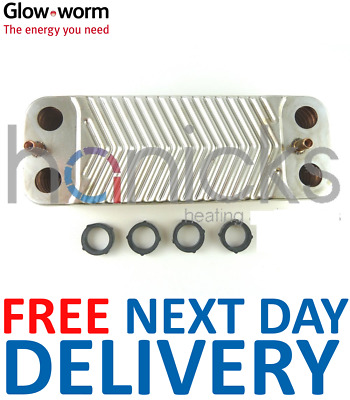 GLOWWORM 24 30 38 CXI DHW Plate to Plate Heat Exchanger 2000801831 ...