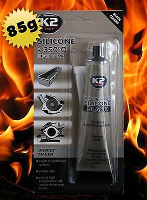 +350°C K2 BLACK High Quality Silicone Adhesive Heat Temperature Resistant 85g