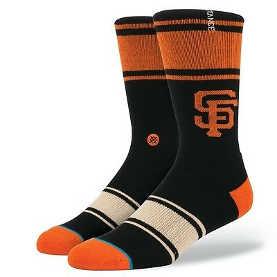 San Francisco Giants Stance MLB Gigantes Crew Socks - Black