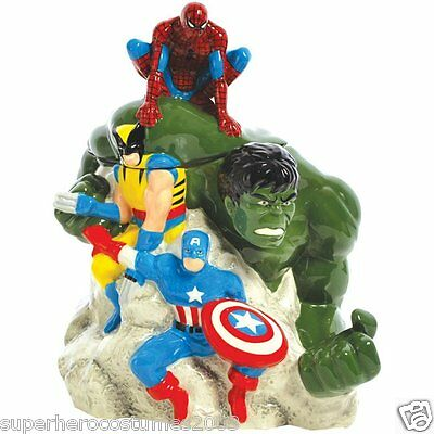 Marvel Heroes Hulk Spider-Man Cookie Jar Marvel Comics Ceramic Westland 22967