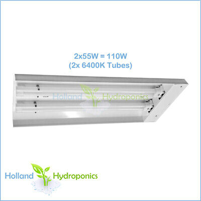 Hydroponics Propagation grow light T5 compact fluorescent system 2x55w 6400k