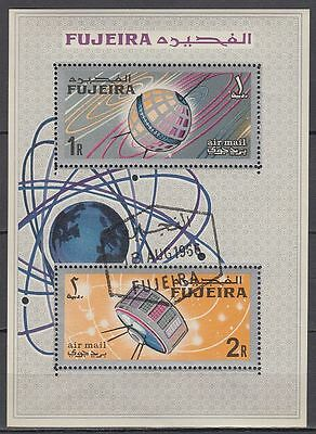 Fujeira 1966 Bl.4 A used c.t.o. Weltraum Space