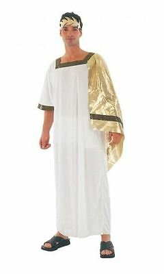 Mens Greek God Fancy Dress Costume Adults Outfit Toga Ancient Greece Rome