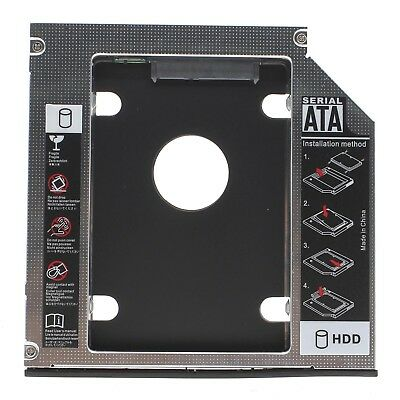 12.7mm SATA HDD SSD 2nd Hard Drive Driver Caddy Optibay For PC Laptop CD DVD ROM