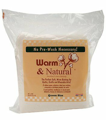 Warm and Natural Cotton - 90'' x 108'' Wadding Batting For Quilting QUEEN Size