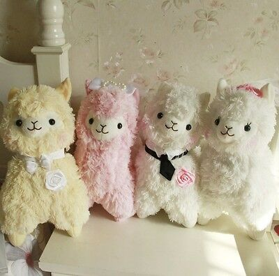 14'' Couples Alpacasso Baby Amuse Llama Wedding Bridegroom Alpaca Stuffed Plush