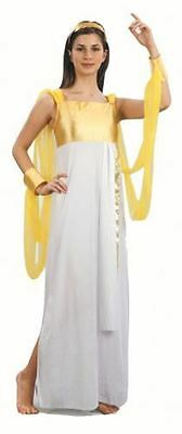 Womens Greek Goddess Athena Fancy Dress Costume Adults Outfit Toga (Size 10)
