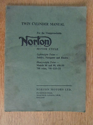 Norton Motorcycle Twin Cylinder Manual Lightweight & Heavyweight Twins