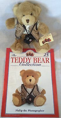 """Collectable The Teddy Bear Collection No.25 """"Philip The Photographer"""" Magazine"""