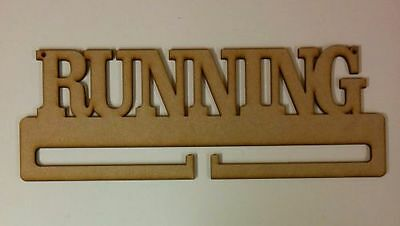 'Running' Medal holder MDF blank with holes (410x145mm)