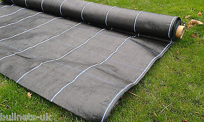 Ground cover membrane UK HEAVY DUTY - WITH LINES 100gsm weed suppressant 2mx25m