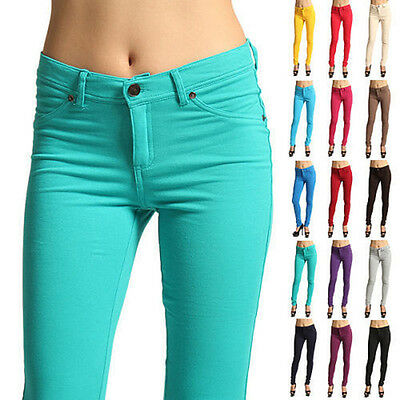 Fashion Women Casual Skinny Leg Jeggings Pencil Pant Stretchy Jeans Trousers USA