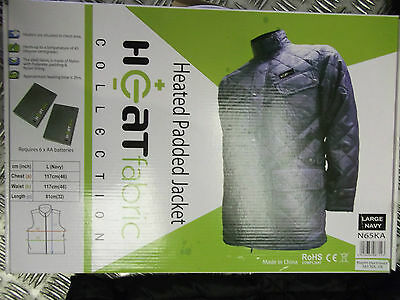 HEATED PADDED QUILTED JACKET BODYWARMER BATTERY POWERED great christmas  gift