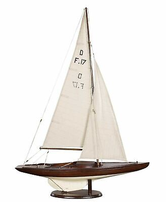 "Dragon Olympic Racer Sailboat Assembled 30"" Built Wooden Authentic Model Yacht"