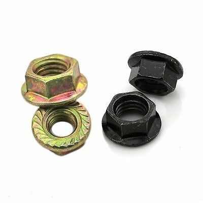 QTY 20 - Serrated Flange Lock Nuts M3 M4 M5 M6 M8 M10 M12 Zine-Plated