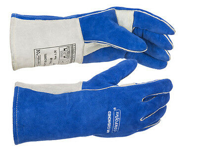 WELDAS Air Cushioned Comfoflex Blue Welding Gloves HIGH QUALITY Size L & XL