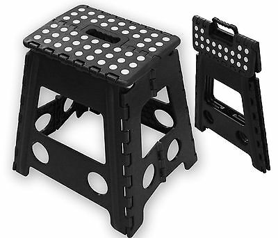 Folding Handy Step Stool Kitchen Bathroom Storage Collapsible Multipurpose New