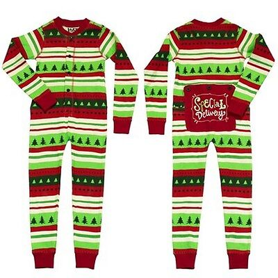 Lazy One Flapjacks Childrens Kid Christmas Special Delivery Holiday PJ Pajamas