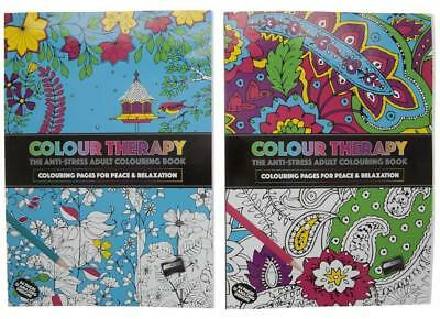 1 A4 Art Colour Therapy Adult Anti Stress Relaxation Calm Colouring Book 64 Page