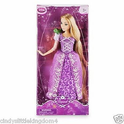 New Disney Store Princess Tangled Rapunzel Pascal Classic doll toy 30cm Age 3+