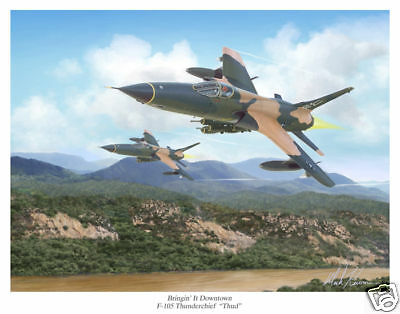 F-105 Thunderchief Aviation Art Print