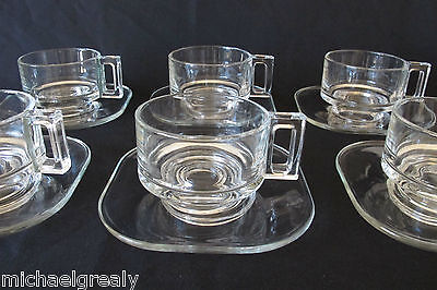 4 Joe Colombo Coffee Cups+ 4 saucers + Sugar Bowl + Creamer. ITALY. Columbo.