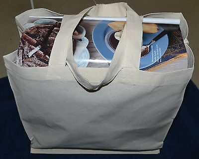CALICO BAGS RETAIL-Carry NATURAL COLOUR X  5
