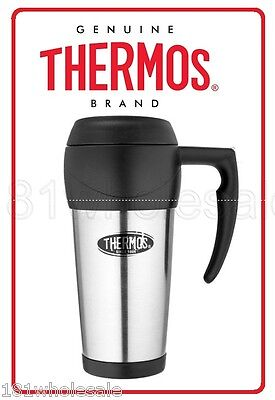 ❤ Thermos 450ml Stainless Steel Insulated Coffee Travel Mug THERMOCAFE 0.45L ❤