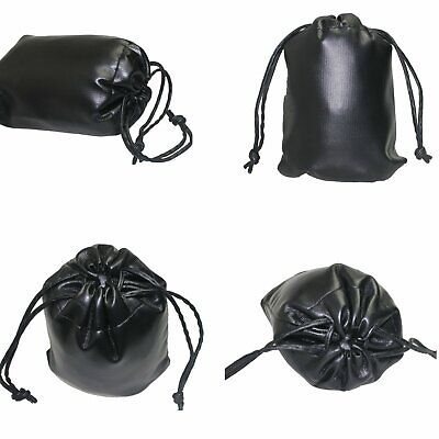 Leather waterproof Soft Camera Protector Pouch Bag Case Size 150mmx110mm black
