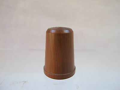 VINTAGE 1980's TURNED HARD WOOD COLLECTORS SEWING THIMBLE
