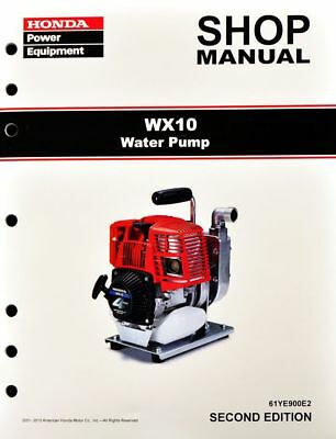 Honda WX10 Water Pump Service Repair Shop Manual