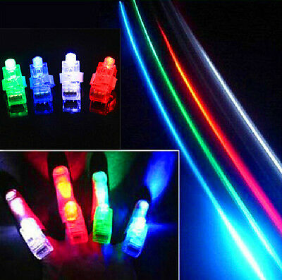 20 PCS LED Laser Finger Lights Lamps Party Concert Beam Torch Glow Ring