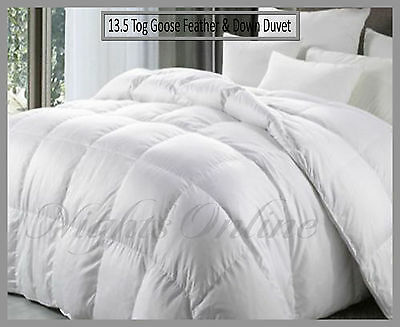 **Special Offer** Goose Feather & Down Duvet Quilt Extra Warm 13.5 Tog Clearance