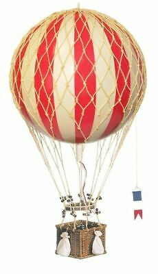 "Red And White Striped Hot Air Balloon Model 22"" Hanging Aircraft Ceiling Decor"