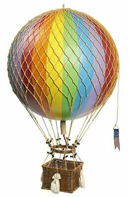"Rainbow Striped 22"" Hot Air Balloon Model Aviation Ceiling Hanging Home Decor"