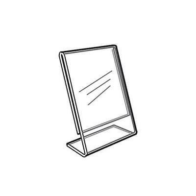 Acrylic Slanted Counter Sign Photo Display Holder Stand 2 x 3.5