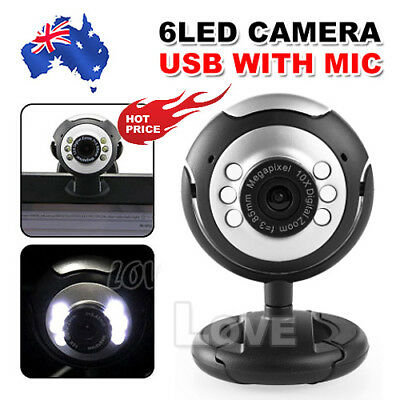 OZ USB Camera+Mic 16 megapixel MP 6 LED Laptop PC Computer Desktop Webcam