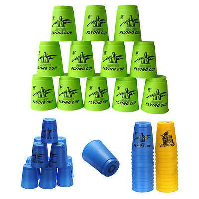 Set 12 Speed Stacks Sport Stacking Stacker Game Competition Rapid Flying Cup Toy