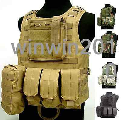 Military Molle Hunting Vest Paintball Jacket Carrier SWAT Airsoft Top Quality
