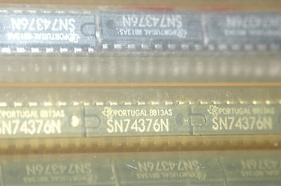 TEXAS INSTRUMENTS SN74376N 16-Pin Dip 74376 Integrated Circuit New Lot Qty-5
