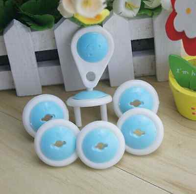 6pcs Electric Socket Outlet Plug Safety Safe Lock Cover for Baby Kids UK