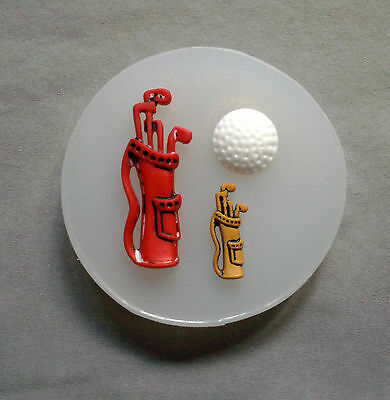 Golf Bag Clubs Ball Silicone Mould Mold,Sugarcraft,Cake Decorating polymer clay