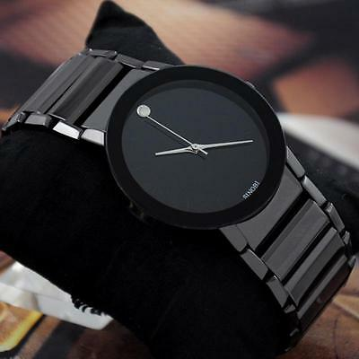 Luxury Mens-watches Stainless Steel Strap Cool Design Analog Quartz Wrist Watch