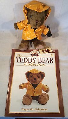 """Collectable The Teddy Bear Collection No.6 """"Fergus The Fisherman"""" Magazine"""