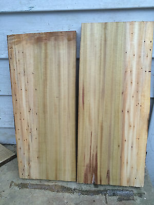 Two Spalted Yelllow poplar boards