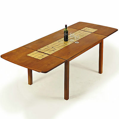 Dining Table  Large  Teak & Tile, Retro, Danish, Vintage (Delivery available)
